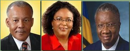 Owen Arthur, Leader of the Opposition, Mia Mottley MP, Prime Minister Fruendel Stuart